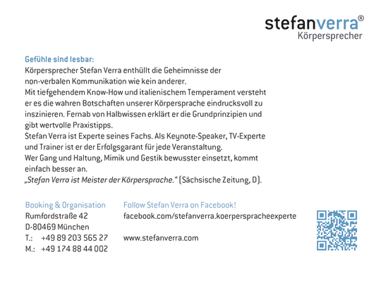 Stefan Verra – Körpersprecher