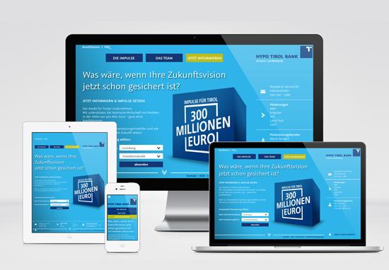 Hypo Tirol  – responsive Webdesign